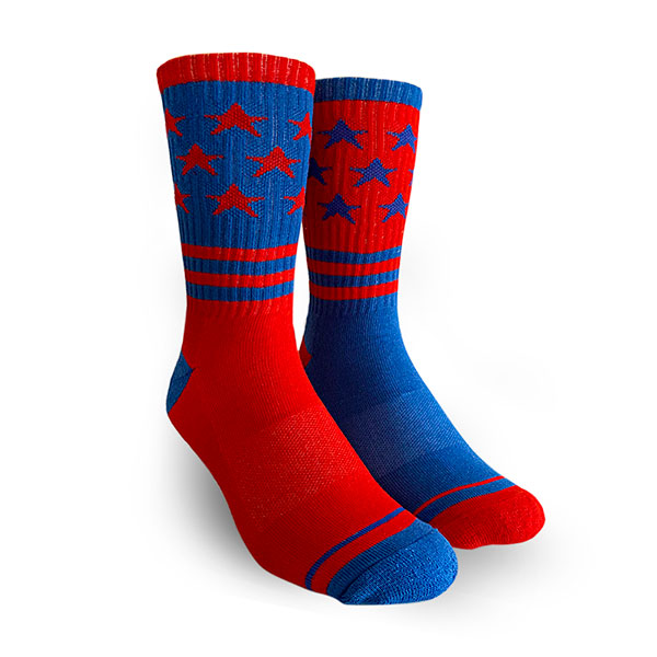 Medias Blue Red Stars Reverse Oliver Socks